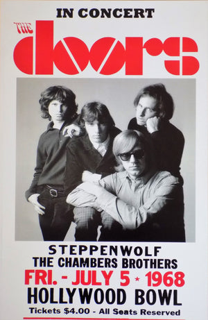 POSTER vintage THE DOORS HOLLYWOOD BOWL 1968 - TOFMOBILE