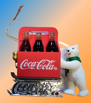 figurine ours COCA COLA caisse  POLAR BEAR collection