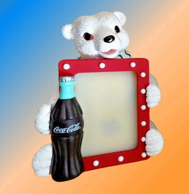 figurine de l'ours polaire PORTE PHOTO COCA COLA