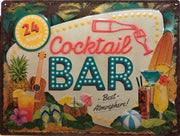plaque métal vintage COCKTAIL BAR - TOFMOBILE