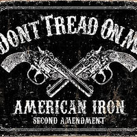 plaque métal vintage DON'T TREAD ON ME american iron - TOFMOBILE