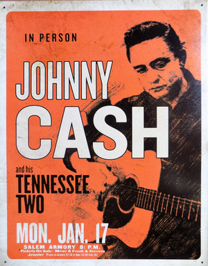 PLAQUE METAL vintage JOHNNY CASH Tennessee two - TOFMOBILE