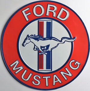 plaque métal FORD MUSTANG - TOFMOBILE