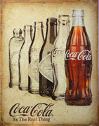 plaque métal vintage COCA COLA it's the réal thing - TOFMOBILE