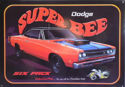 plaque métal vintage DODGE SUPER BEE - TOFMOBILE