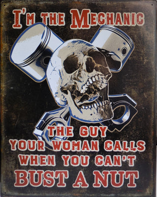 plaque métal vintage I'M THE MECHANIC - TOFMOBILE