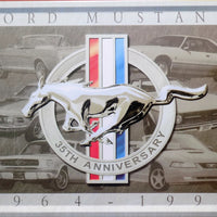 plaque métal FORD MUSTANG 35th - TOFMOBILE