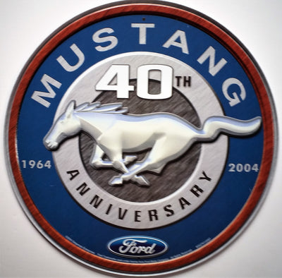 plaque métal vintage FORD MUSTANG 40 th - TOFMOBILE