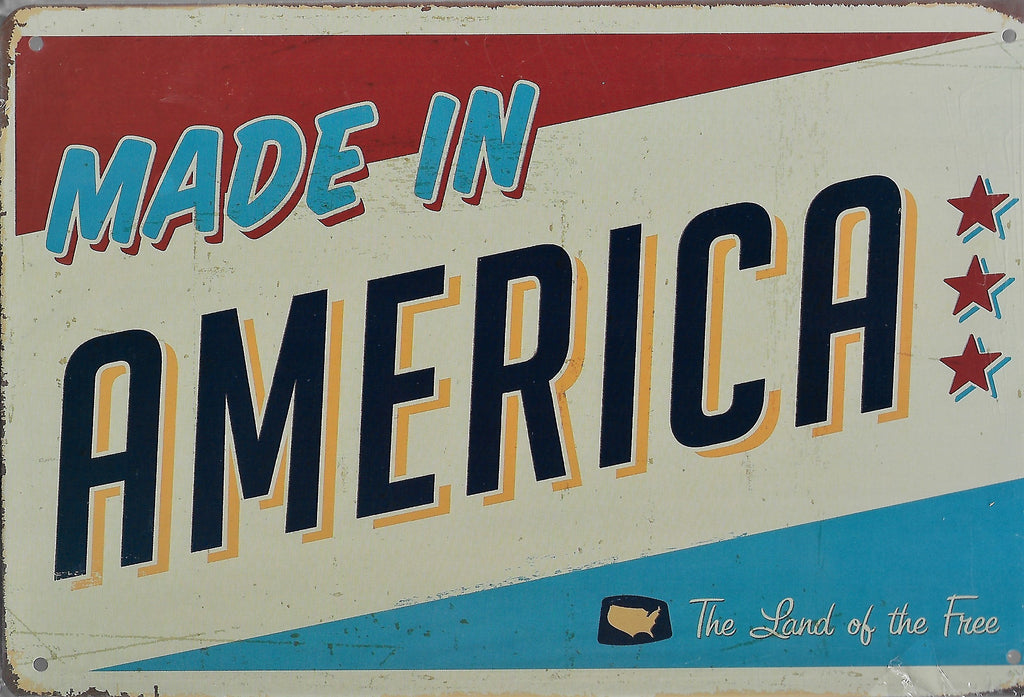 plaque métal vintage MADE IN AMERICA - TOFMOBILE