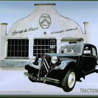plaque métal vintage CITROËN TRACTION GARAGE