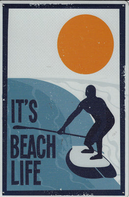 plaque métal vintage IT'S BEACH LIFE