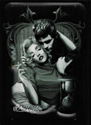 PLAQUE métal vintage DESTINY MARILYN MONROE JAMES DEAN