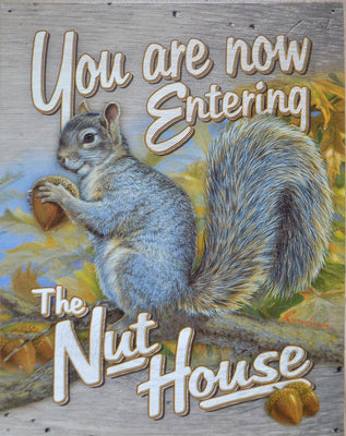 plaque métal vintage YOU ARE NOW ENTERING THE NUT HOUSE - TOFMOBILE