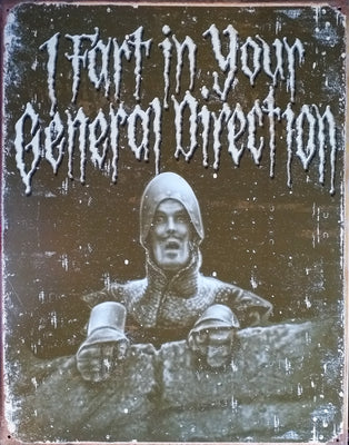 plaque métal vintage MONTY PYTHON in your direction