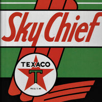 plaque métal vintage TEXACO SKY CHIEF