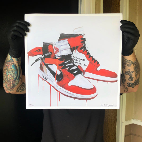 """PRINTS"" Jordan 1 OFF WHITE (print)"
