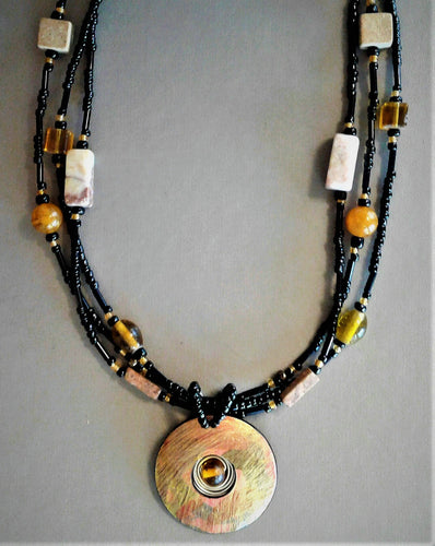 Deva beaded necklace