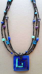 Blues beaded necklace