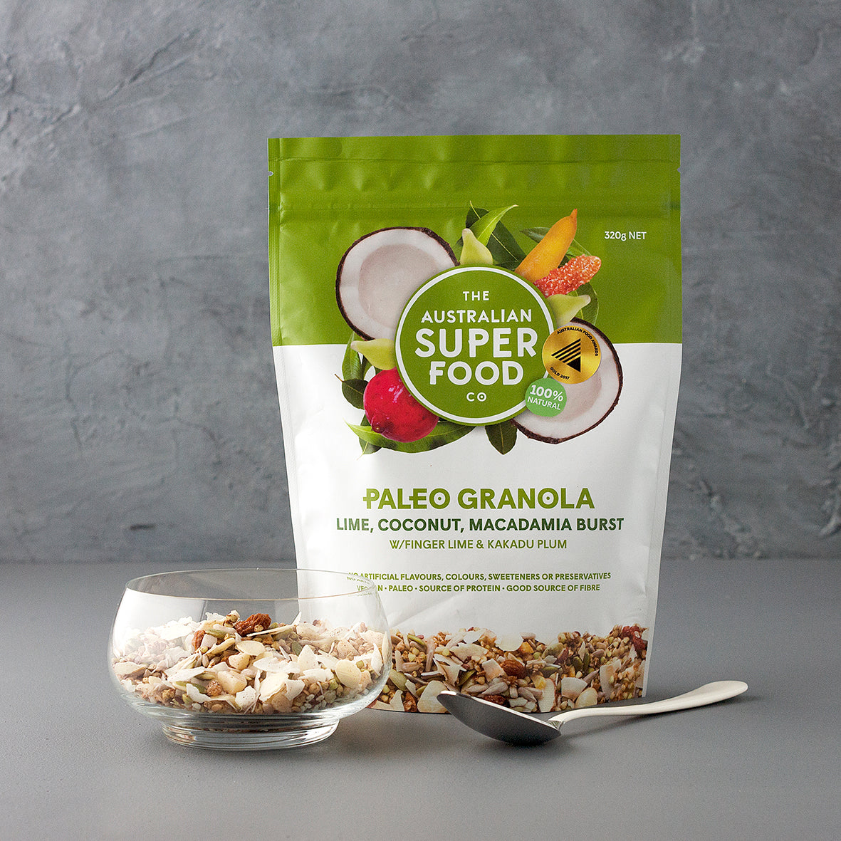 The Australian Superfood Company Lime, Coconut, Macadamia Burst 320g