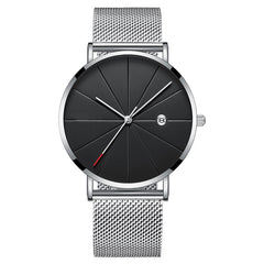Matthew Wiles Ultra Thin Luxury Mens Watch Silver metal MW0070