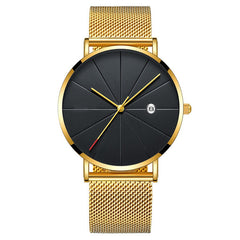 Matthew Wiles Ultra Thin Luxury Mens Watch Gold metal MW0071
