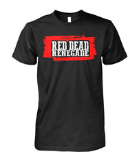 Red dead Renegade western Cowboy T-shirt Unisex Cotton Tee