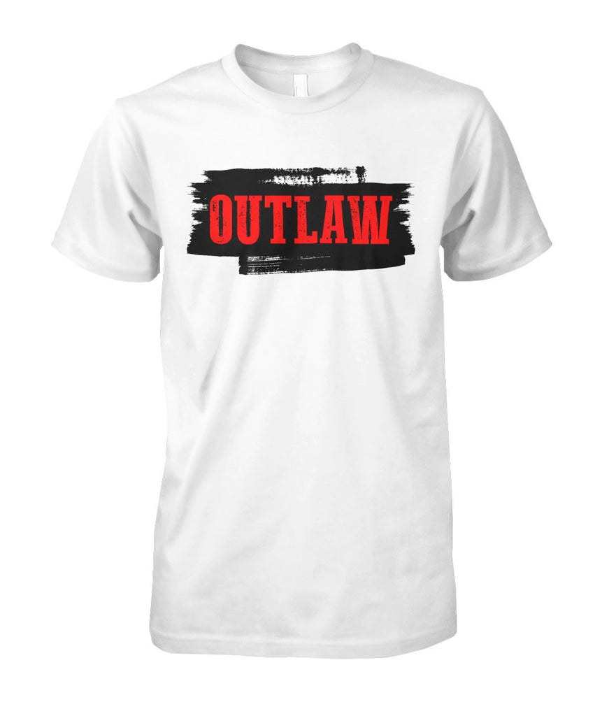 Western Outlaw white T-shirt Unisex Cotton Tee