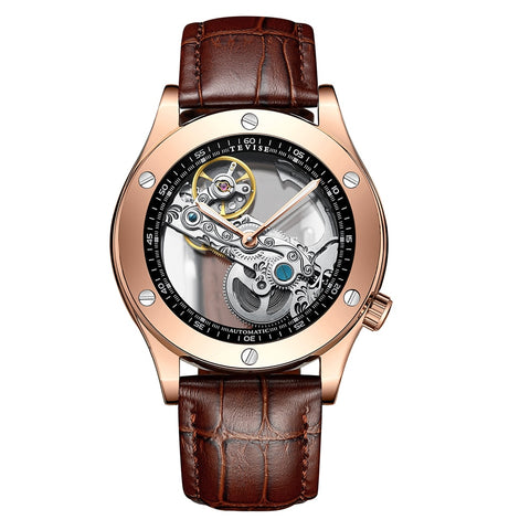 Matthew Wiles Business Automatic Mechanical Watch Gold Crone MW0017
