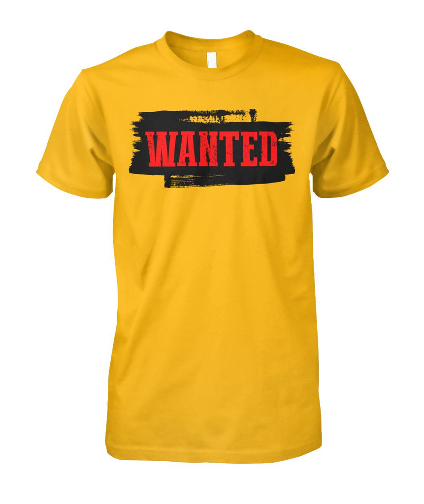 WANTED Western Cowboy T-Shirt Unisex Cotton Tee