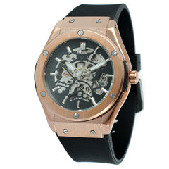 Matthew Wiles Skeleton Luxury Automatic Watch – Rose Gold MW0023