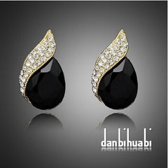 Women Fashion Jewelry Chic Crystal Stud Earrings
