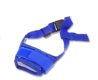 1PC Adjustable Mesh Breathable Anti Bark Bite Muzzles
