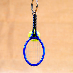 Cute Mini Tennis Racket Keychain Keyring Cool Fan Gifts