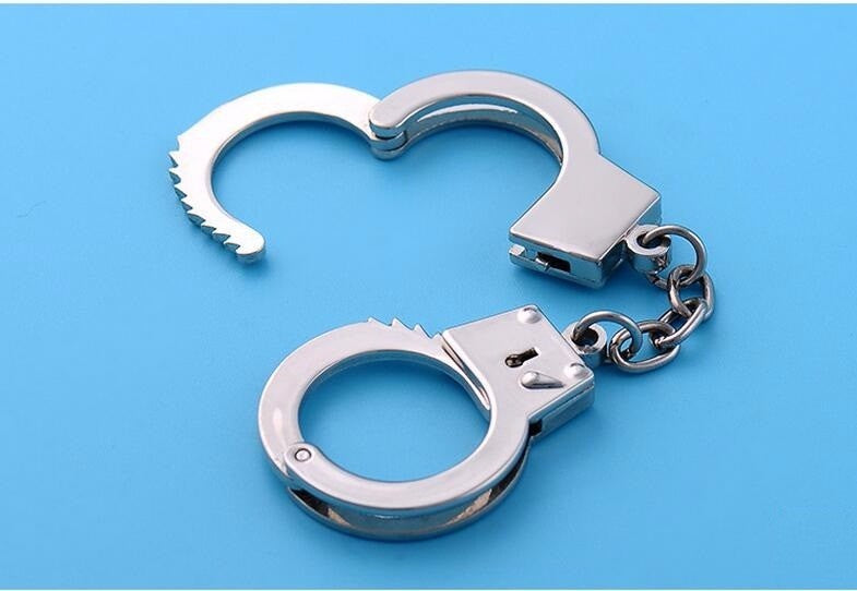 Handcuffs miniature Car KeyChain