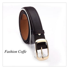 Girls Womens Leather Belt Metal Buckle New 2018 Fashion Accessories