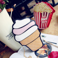 Cupcake Ice Cream Fruit Shape Fashion Bags