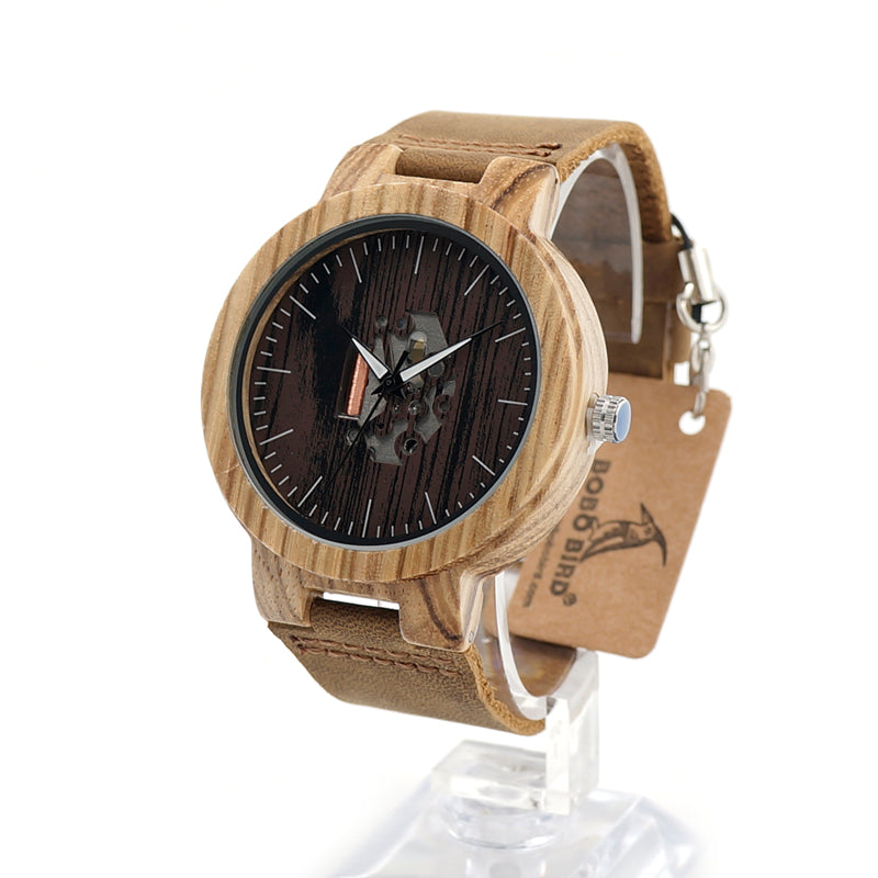 Wooden Zebra Watch