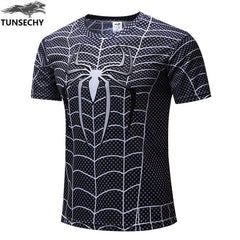 Batman Spiderman Ironman Superman Captain America Marvel Avengers Costume Superhero T shirt