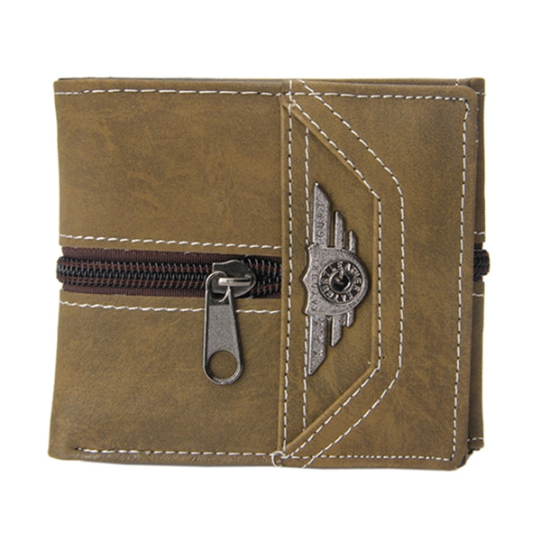 New Fashion Casual Men's Boy Punk Vintage Faux Leather Zipper Wallet