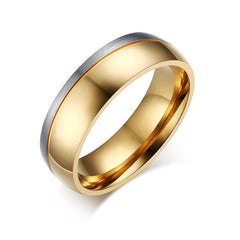 Wedding Engagement Ring for Women  Men Gold Color Couple Stainless Steel material