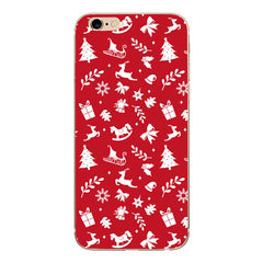 Christmas Santa Cases For Apple iPhone Silicone Back Cover for Phone Case Cover