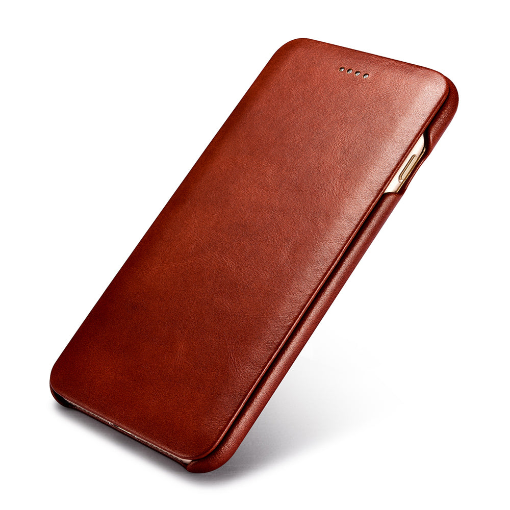 Luxury Genuine Leather Original Mobile Phone Cases Accessories For Apple iPhone 7 8/ Plus Full Edge Flip Case Cover