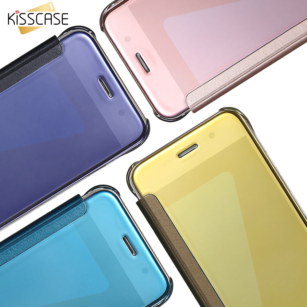 Mirror Flip Case For Samsung Galaxy S8 Note 8 S7 Edge S6 Edge