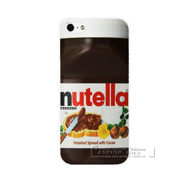 Nutella Case Cover for Apple iPhone Hard Plastic models 6 6S 7 8 Plus X 4 4S 4G 5 5S SE 5C NEW