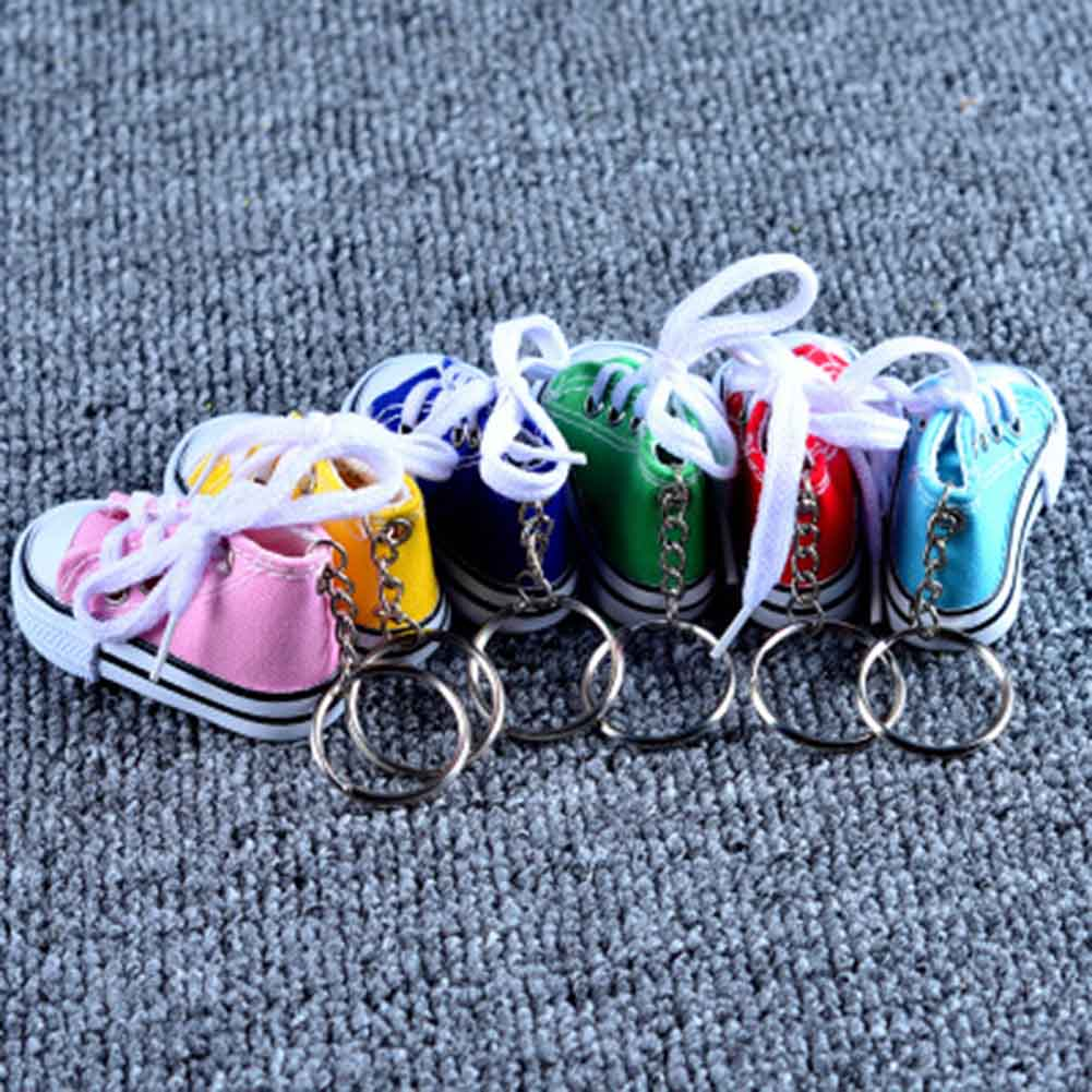Mini Sneaker Tennis Shoe Keychain Blue Pink Black White Sports Shoes Keyring Funny