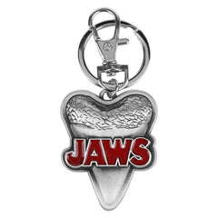 Jaws Shark Movie Shark Tooth With Logo Font Keychain Jewelry