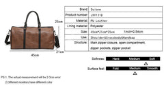 PU Leather Travel Bag Stylish Casual Handbag High Quality Large Capacity