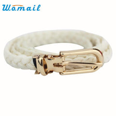 Women Belt weave Leather Waistband