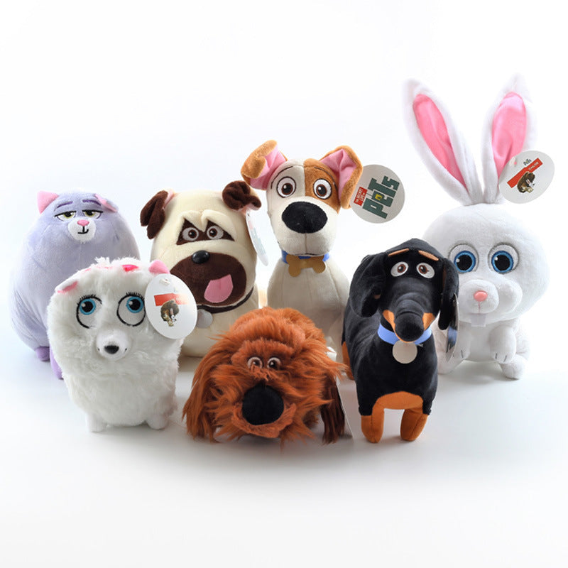 Set of 7 Pcs-20cm/7.87inch-TY Cute Beanie Boos Big Eyes Babies Plush - Secret Life of Pets Movie