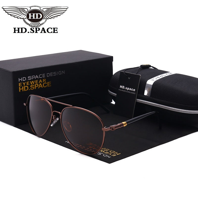 Men Polarized SunGlasses Driving Fashion Metal frame UV400 pilot Sun Glasses